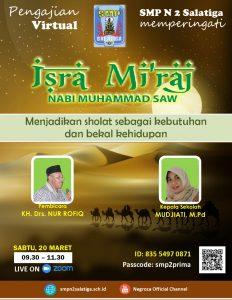 Seluruh Warga Muslim SMPN 2 Salatiga: Pengajian Isra' Mi'raj Virtual