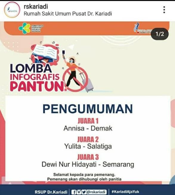 Yulita Zuhrotun Nurbiyanti, S.Pd.: Juara 2 Lomba Infografis Pantun