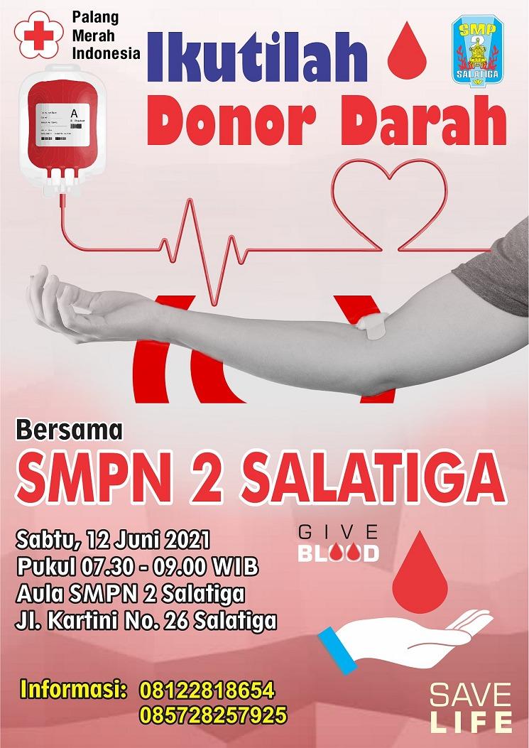 Ikutilah Donor Darah Bersama SMP Negeri 2 Salatiga