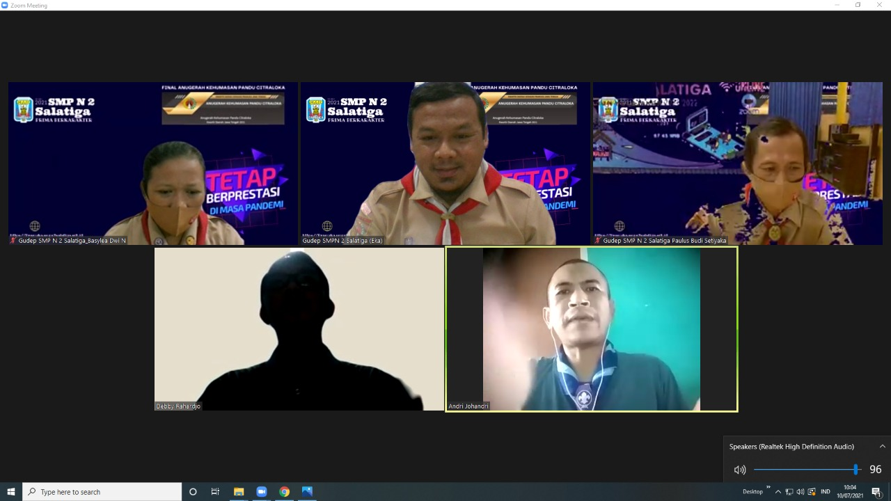 Pramuka SMP Negeri 2 Salatiga: Finalis Anugerah Kehumasan Pandu Citraloka Kwartir Daerah Jawa Tengah 2021