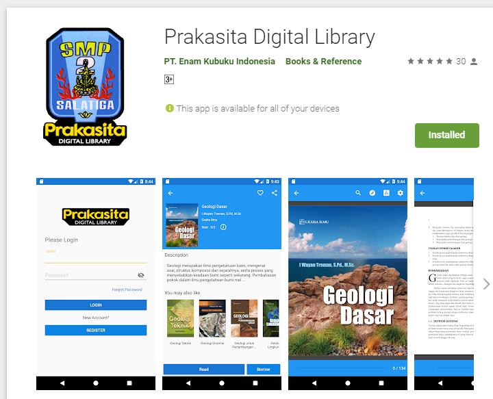 Aplikasi Prakasita Digital Library