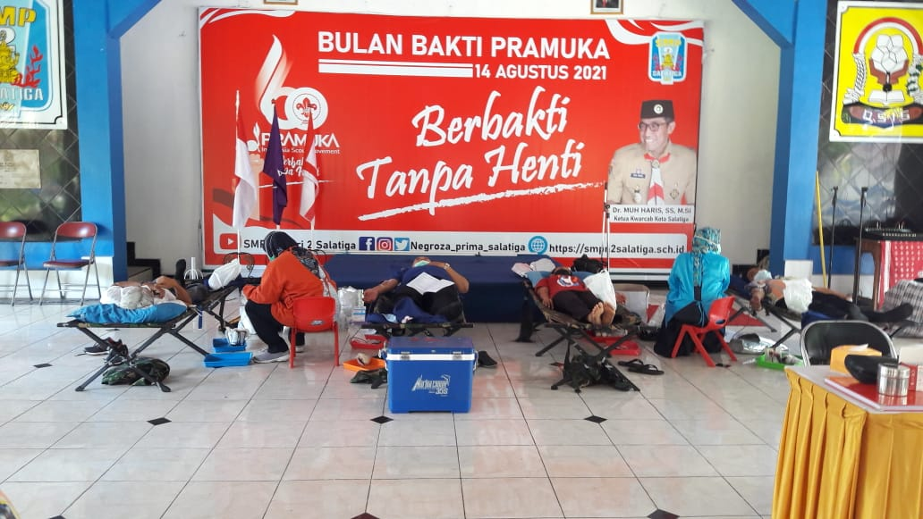 Pramuka SMP Negeri 2 Salatiga: Donor Darah Dalam Rangka Bulan Bakti Pramuka
