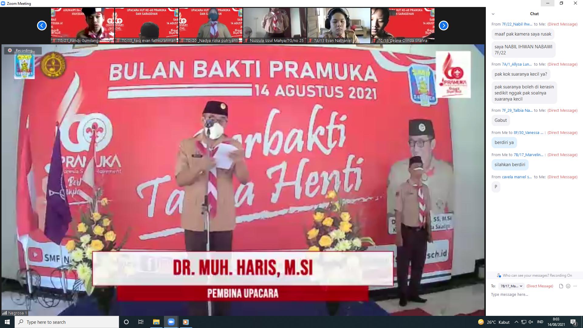 Dr. Muh. Haris,M.Si.: Ketua Kwarcab Salatiga Menjadi Pembina Upacara HUT Pramuka Ke-60 di SMP Negeri 2 Salatiga