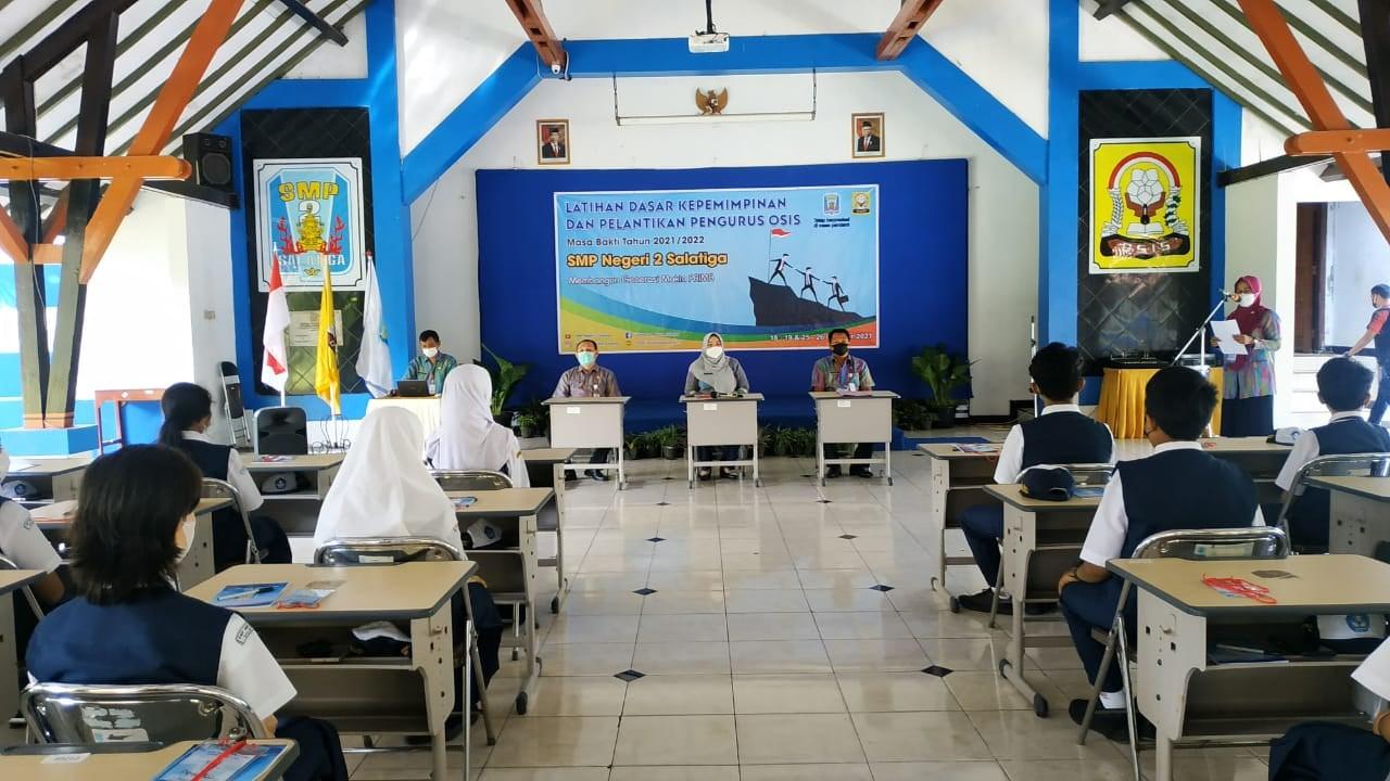Latihan Dasar Kepemimpinan (LDK) OSIS SMP Negeri 2 Salatiga Tahun 2021/2022